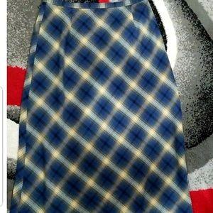 Eddie bauer maxi plaid skirt